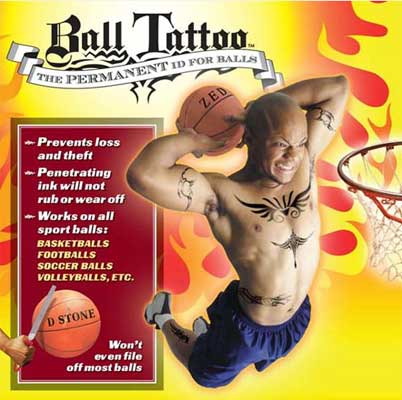 Ball Tattoo acts like an insurance policy for your ball.
