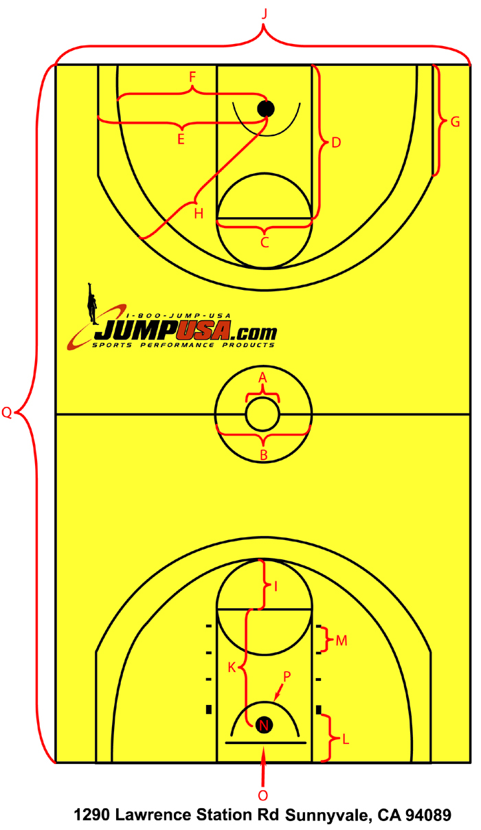 Basketball Court Dimensions Basketball Court Floor Diagram