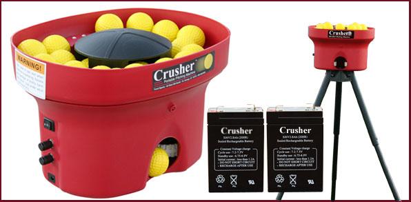 Crusher Curve Dual Wheel Mini Lite Ball Pitching Machine