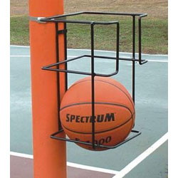 Awesome Basketball Butler 2 Ball Storage Rack Pole Mount Basketball Holder