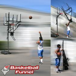 basketball funnel basketball shooting rebounder