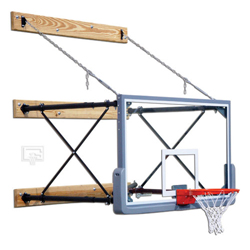 Gared Four-Point Indoor Wall Mount Glass Basketball Hoop Package ...