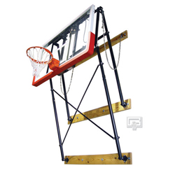 Gared Fold-Up Indoor Wall Mount Glass Basketball Hoop Package ...