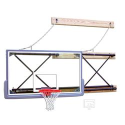 Gared Side-Fold Indoor Wall Mount Glass Basketball Hoop Package ...
