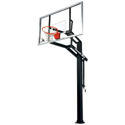 goalrilla gsi inground basketball hoop with 72inch tempered glass backboard - In Ground Basketball Hoop