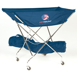 Tandem Sport Usa Volleyball Drill Cart Rolling Ball Basket