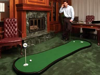 The Dogbone Putting Green This executive sized green is perfect for any  student of the game with limited space or budget. Over 9' long and standard  with 2 ...