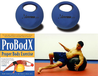 ProBodX Book, Swiss Ball, (2) 5lb single grip balls