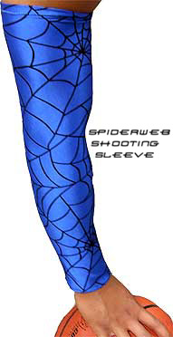 Blue Spiderweb shooting sleeve