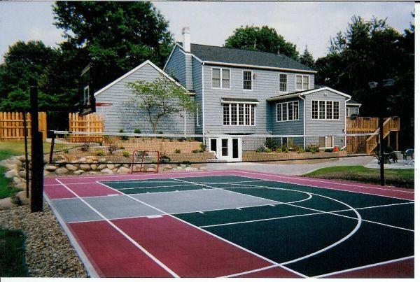 Basketball court flooring outdoor basketball court floor for Cheapest way to make a basketball court