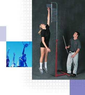 Vertec measures vertical jump and vertical leap