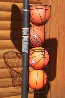 Nice Basketball Butler 4 Ball Storage Rack